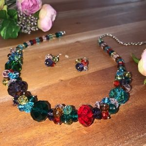 Jewelry - Gorgeous Multicolor Necklace and Earrings Set